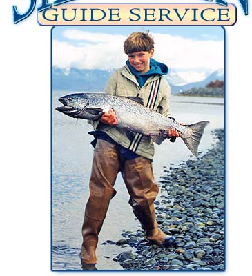 Kenai Peninsula guided stream fishing on the Anchor River, Ninilchik River, Kasilof River, Deep Creek and Homer Spit lagoon